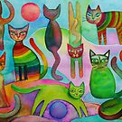 Funny cats by Karin Zeller