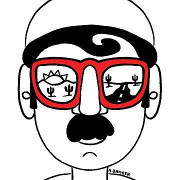 Desert Road View Sunglasses Guy by abamber