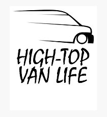 HIGH TOP VAN LIFE SPEED SILHOUETTE  Photographic Print