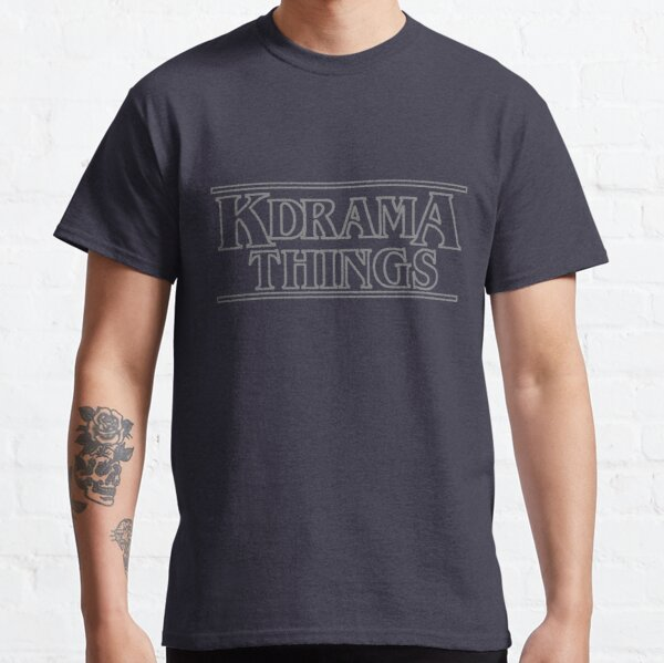 """KDRAMA THINGS"" - Stranger Things Inspired Logo (GREY VER.) Classic T-Shirt"