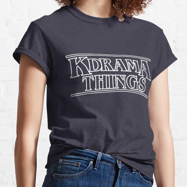 """KDRAMA THINGS"" - Stranger Things Inspired Logo (WHITE VER.) Classic T-Shirt"