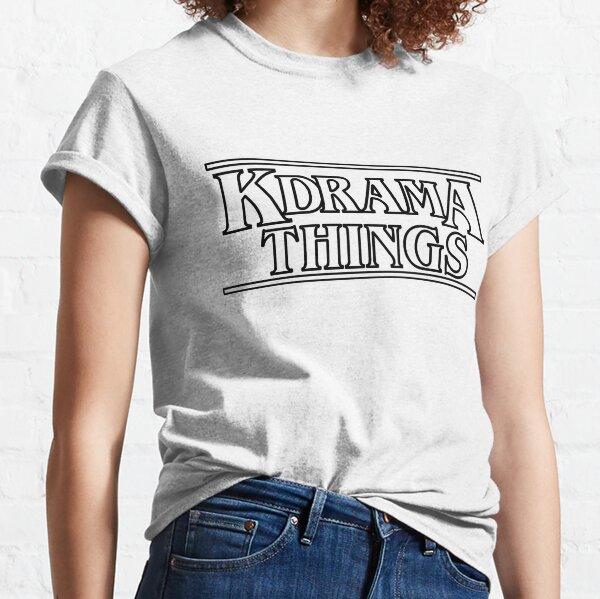 """KDRAMA THINGS"" - Stranger Things Inspired Logo (BLACK VER.) Classic T-Shirt"