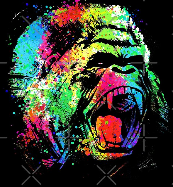 Messy color gorilla by clingcling