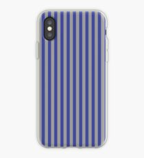 Grey and Blue Vertical Stripes iPhone Case