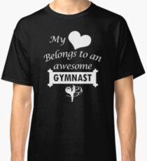 Gymnast Lover Gymnastics Heart Belongs Classic T-Shirt