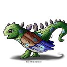 Baby Dino Bird (with horns and scales) by Byron  McBride