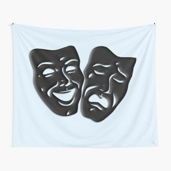 Comedy and Tragedy Theater Design  Tapestry