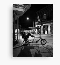 Night Taxi, Old Havana, Cuba Canvas Print
