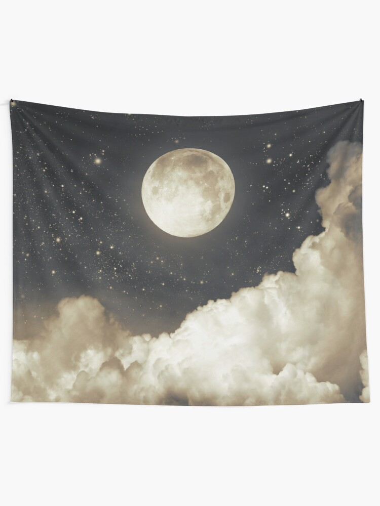 Alternate view of Touch of the moon I Tapestry