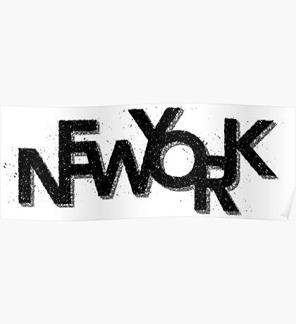 New York Retro 3D Poster