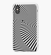 A black and white optical illusion iPhone Case/Skin