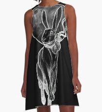 Kaninchen Mond A-Linien Kleid