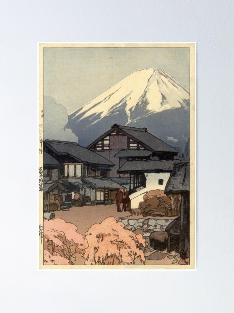 Alternate view of Hiroshi Yoshida - Fujiyama from Funatsu Poster