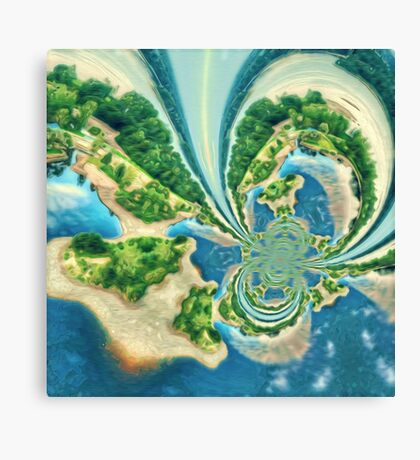 Extraterrestrial planet Canvas Print