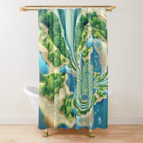 Extraterrestrial planet Shower Curtain