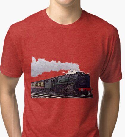 Leicester City 92214 steam train  Tri-blend T-Shirt