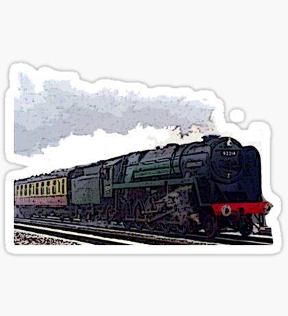 Leicester City 92214 steam train  Sticker