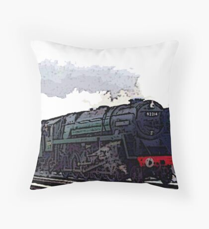 Leicester City 92214 steam train  Throw Pillow