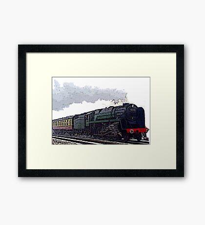 Leicester City 92214 steam train  Framed Print