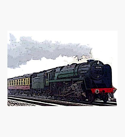 Leicester City 92214 steam train  Photographic Print
