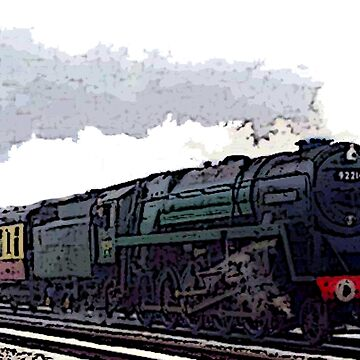Leicester City 92214 steam train  by bywhacky