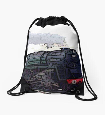 Leicester City 92214 steam train  Drawstring Bag