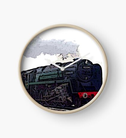 Leicester City 92214 steam train  Clock