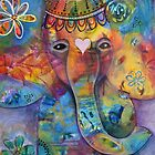 Grace - Bali inspired elephant by Kristen Howarth