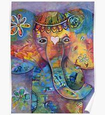 Grace - Bali inspired elephant Poster