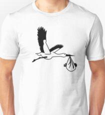 Stork birth T-Shirt