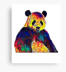 Kids Cute Panda Bear Face Youth T Shirt For Kids Children Canvas Print