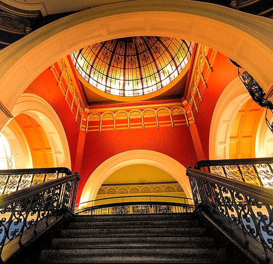 Stepping Up - The Grand Staircase - Queen VIctoria Building - The HDR Experience by Philip Johnson