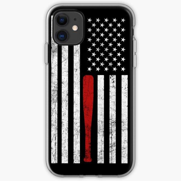 USA Flag Themed Baseball Bat Fans T-Shirt - Gift for Baseball Players & Fans iPhone Soft Case