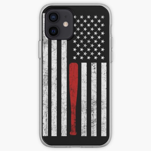 USA Flag Themed Baseball Bat Fans T-Shirt - Gift for Baseball Players & Fans iPhone Soft Case