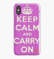 Keep Calm and Carry On Vintage worn iPhone Case