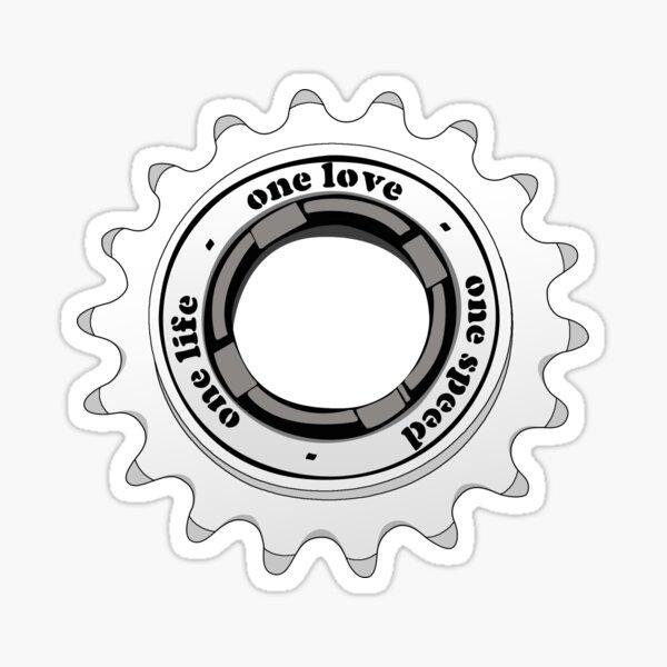 détendez-vous et simplifiez. Cette conception s'adresse aux amateurs de cyclisme et aux personnes qui aiment faire fonctionner les choses avec un seul équipement.  Sticker