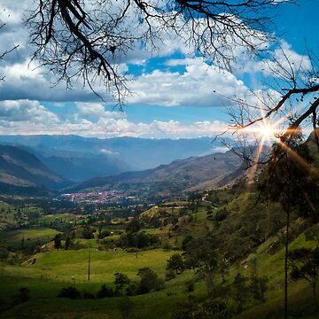 View Of Giron Valley From Portete III by alabca