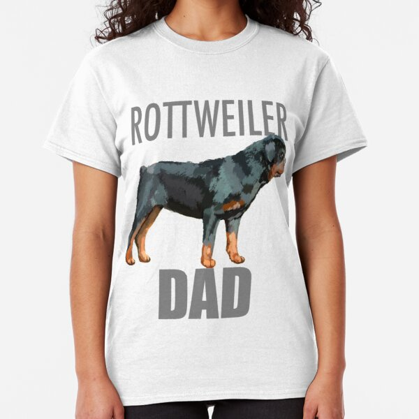Rottweiler T-Shirt Heartbeat Dog Lover Breed Guard Rescue Family Puppy Men Tee