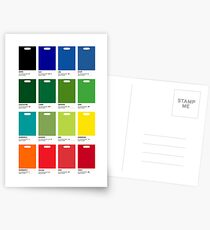 Supermarket Colours Postcards