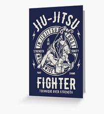 BJJ - JiuJitsu Fighter Greeting Card