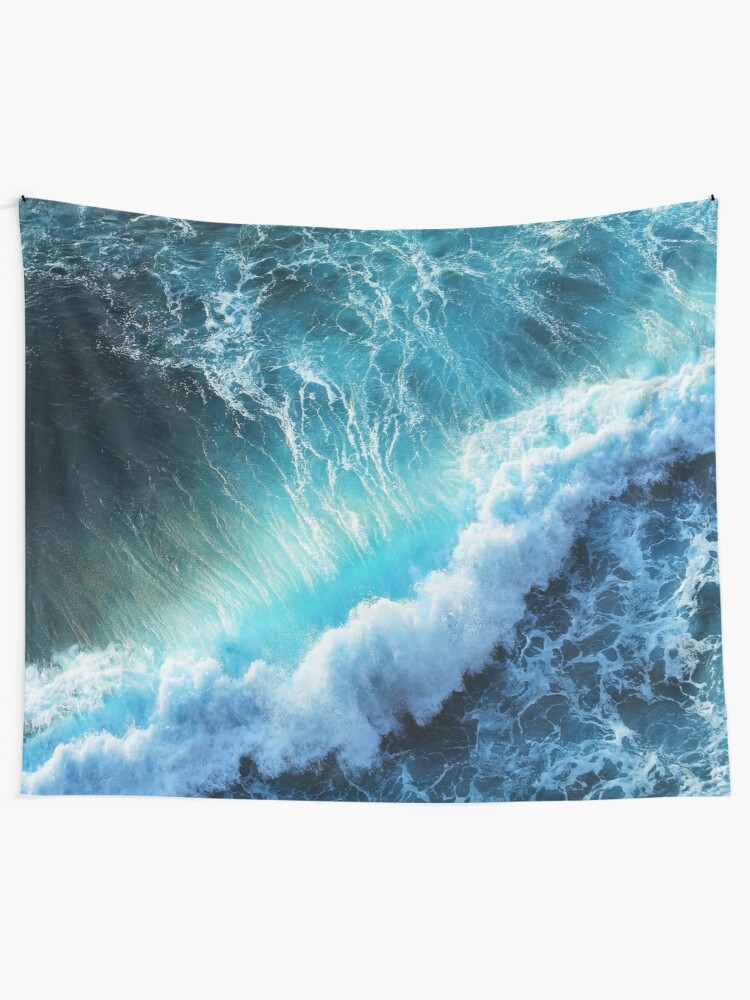 Alternate view of Waving Blue Tapestry