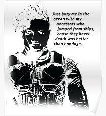 Killmonger 'Bury Me' Memorable Famous Quote Poster