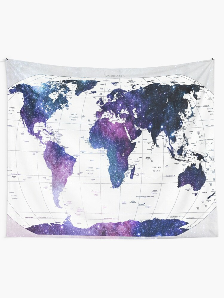 Alternate view of ALLOVER THE WORLD-Galaxy map Tapestry