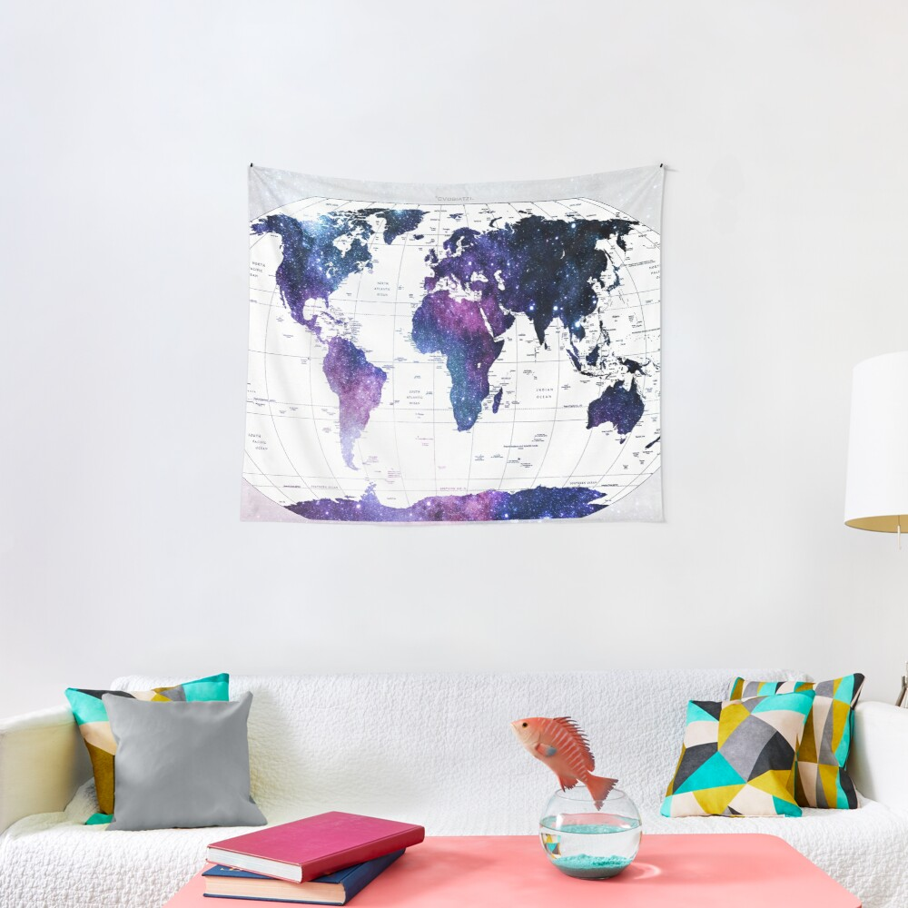 ALLOVER THE WORLD-Galaxy map Tapestry