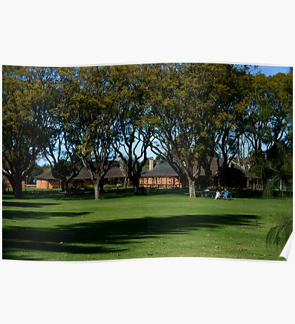 The grounds of Sandalford Wines Poster