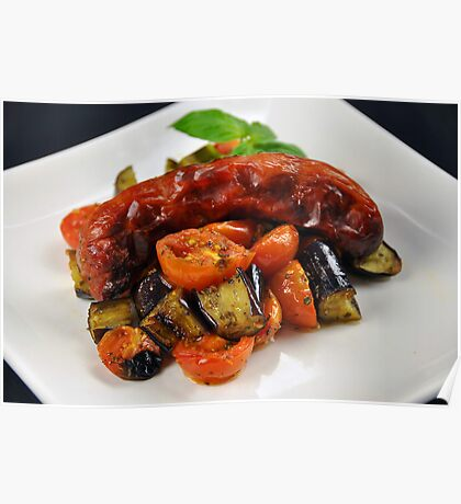 Chorizo Sausage With Roasted Vegetables  Poster