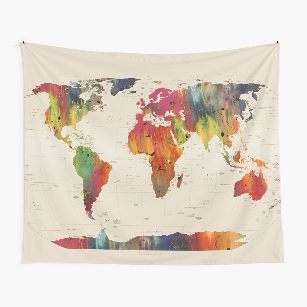ALLOVER THE WORLD Wall Tapestry