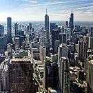 Ein nebelhafter Morgen in Chicago, Illinois, USA von atomov