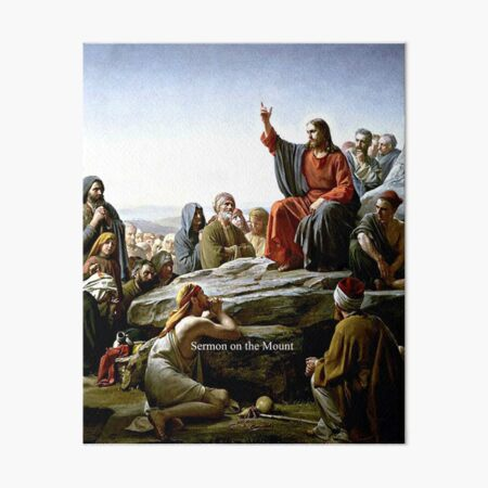 Sermon on the Mount Art Board Print