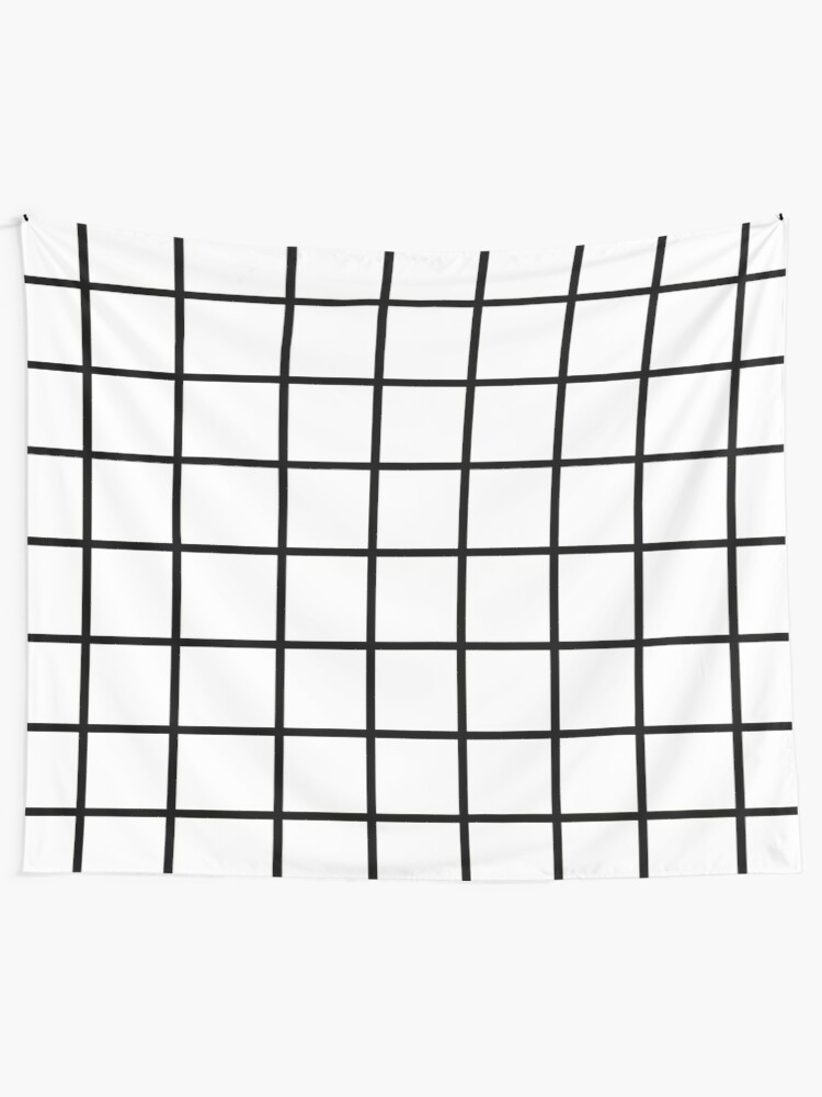 Alternate view of Grid White & Black Tapestry